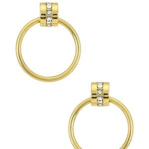 NEW Luv AJ The Mosaic Crystal Hoops in Gold